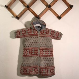 Other - Vintage hooded winter knit baby bunting